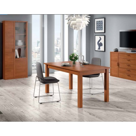 MESA COMEDOR EXT. RECTANGULAR CEREZO